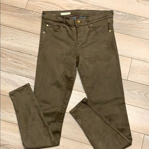 KUT From The Kloth Mia Toothpick Skinny Suede Pant